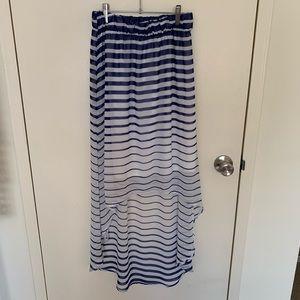Romeo & Juliet High-low striped skirt